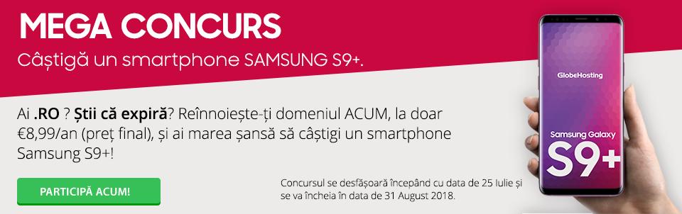 MEGA CONCURS: Câștigă un smartphone SAMSUNG S9+!